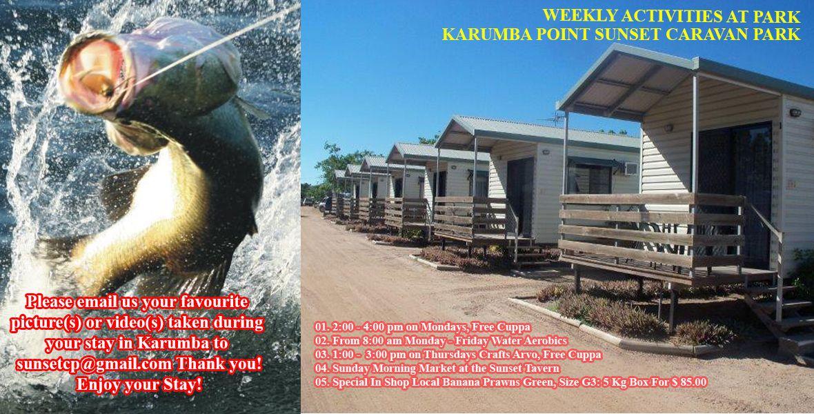 August weekly park activities karumba point sunset caravan