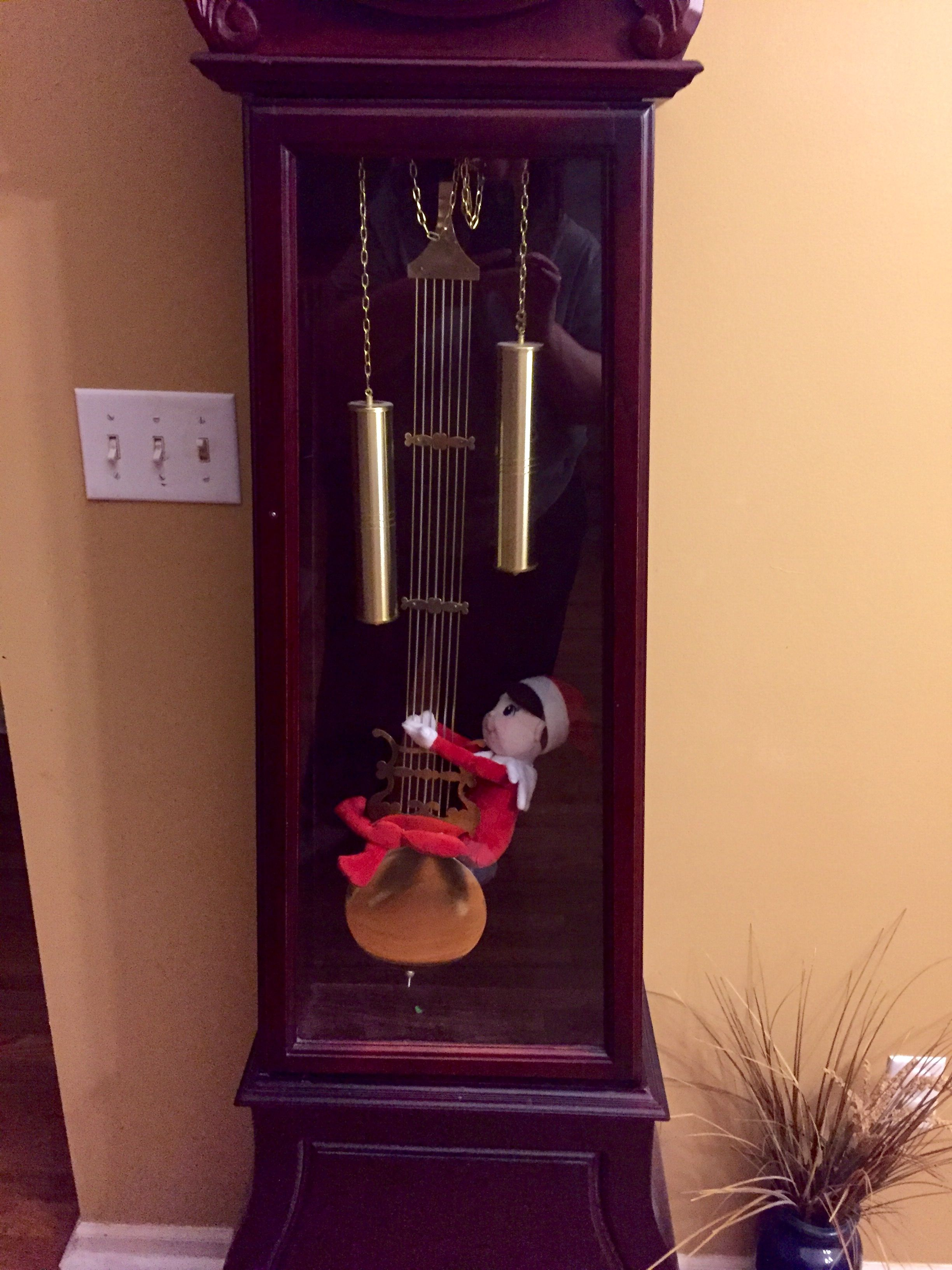 Elf on a shelf fun time swinging!   Decor, Outdoor