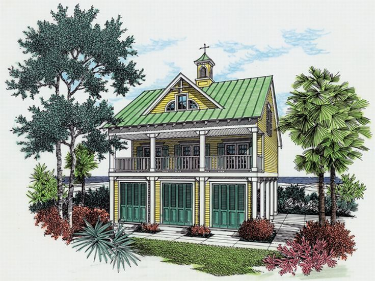 Beach Bungalow House Plan 021h 0024