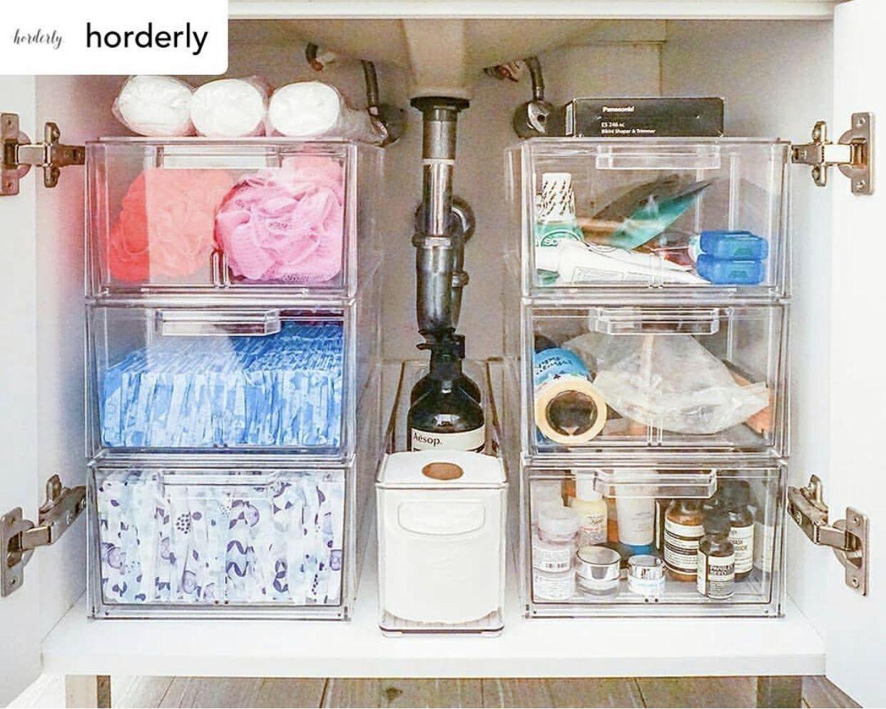 How to organize under the bathroom sink. #organize # ...