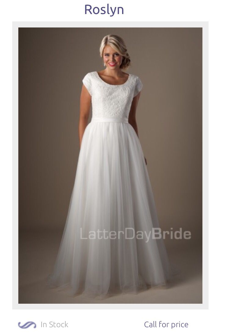 Beautiful Modest Wedding Dress With Sleeves From Latter Day Bride