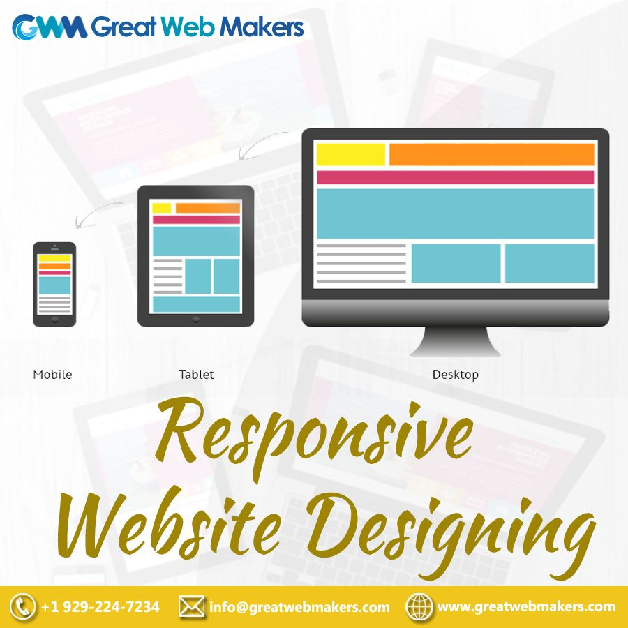 Great Web Makers Provides The Best Responsive Website Design Services In Florida At Cos With Images Web Design Services Website Design Services Personal Website Design