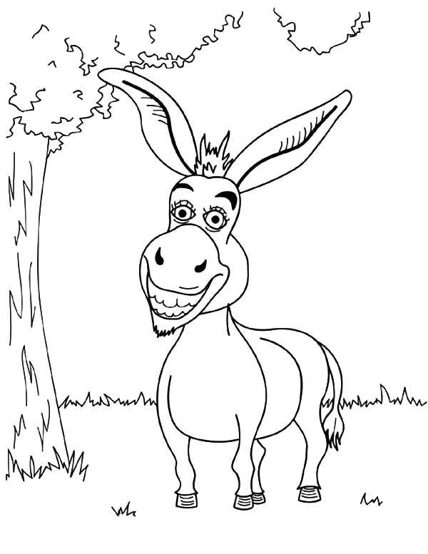 Shrek-Movie-Character-Donkey-Coloring-Pages.jpg (600×777)   Drawings ...