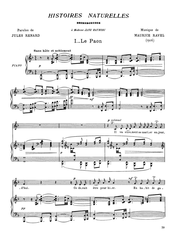 Histoires naturelles (Ravel, Maurice) - IMSLP/Petrucci Music