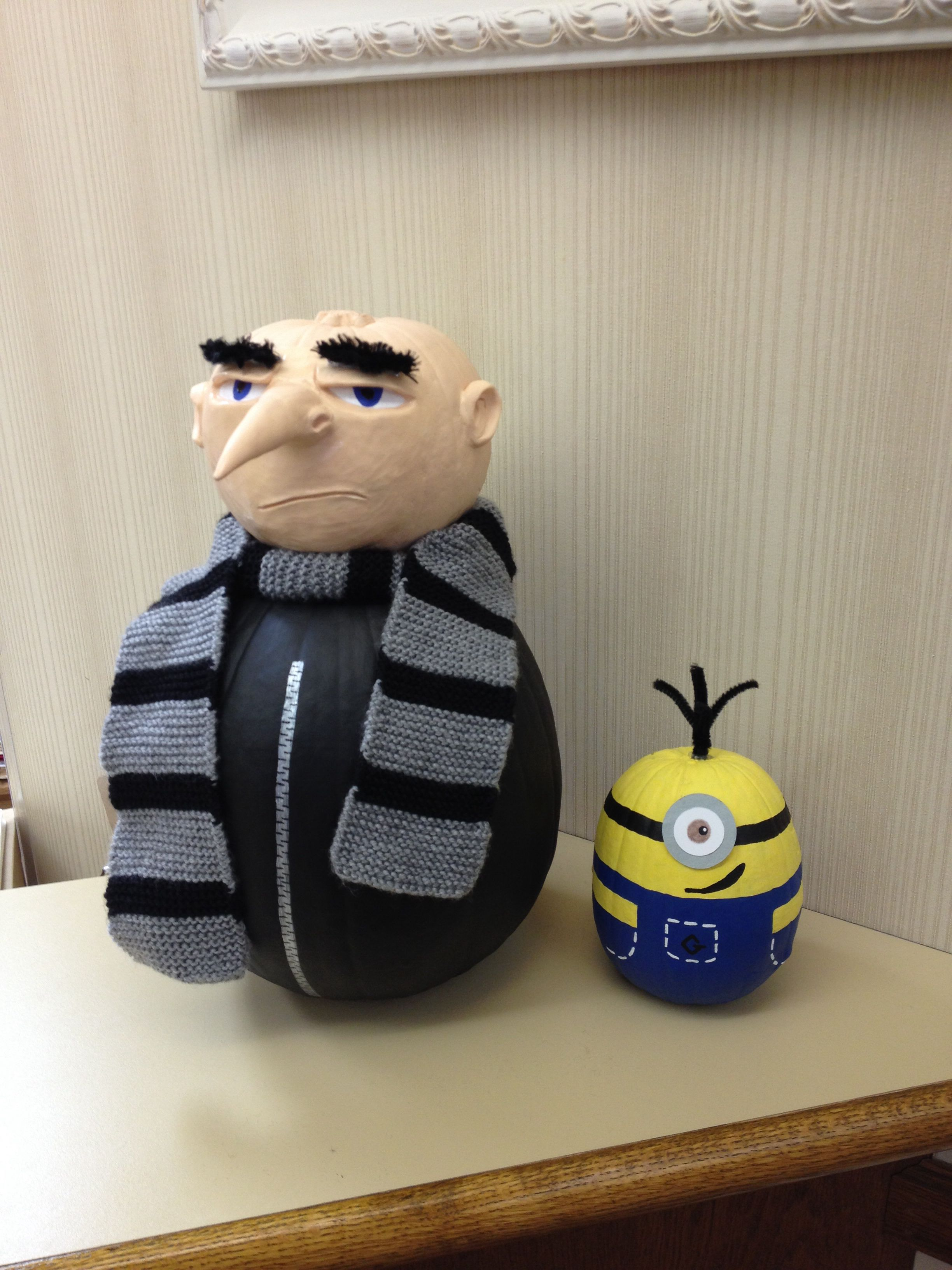 awesome gru and minion pumpkins | halloween | pinterest | pumpkins