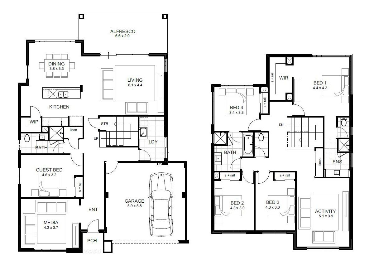 5 Bedroom 2 Storey House Plans Homes Floor Pleasing For ...