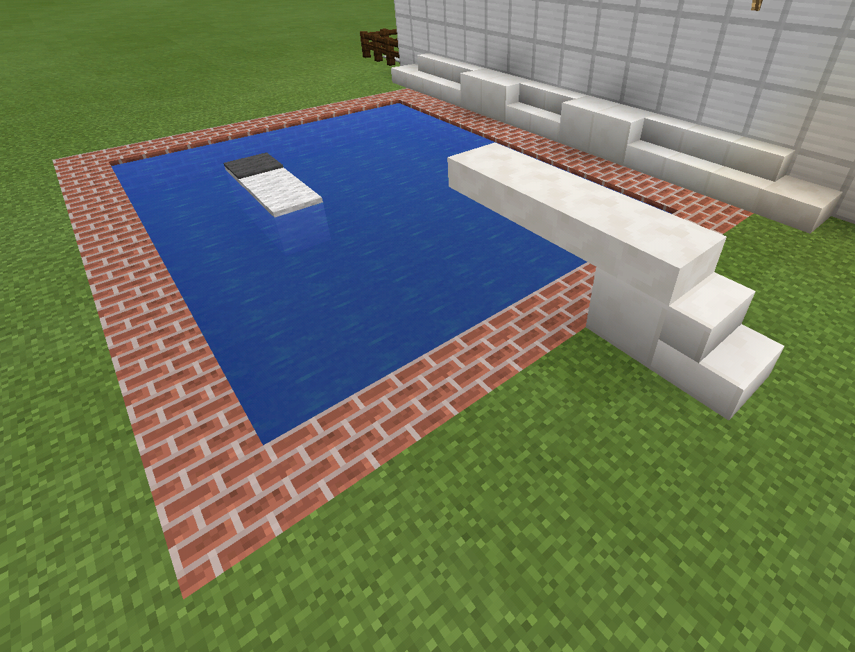 Minecraft Swimming Pool And Diving Board And Float Minecraft Creations Pinterest Minecraft