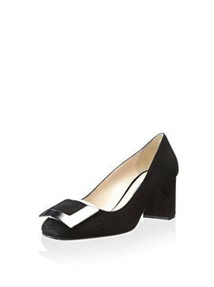 271dc6e6963a Prada Linea Rosa Women s Block Heel Pump (Black)