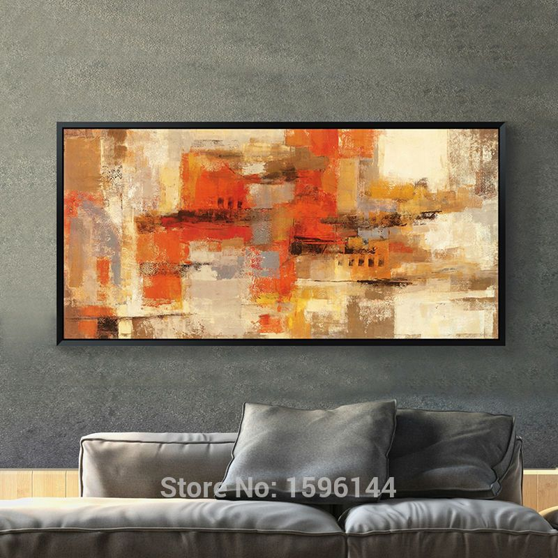 Hand Painted Canvas Oil Paintings Abstract Modern Home Decoration Painting  Wall Art Picture For Living Room Part 90