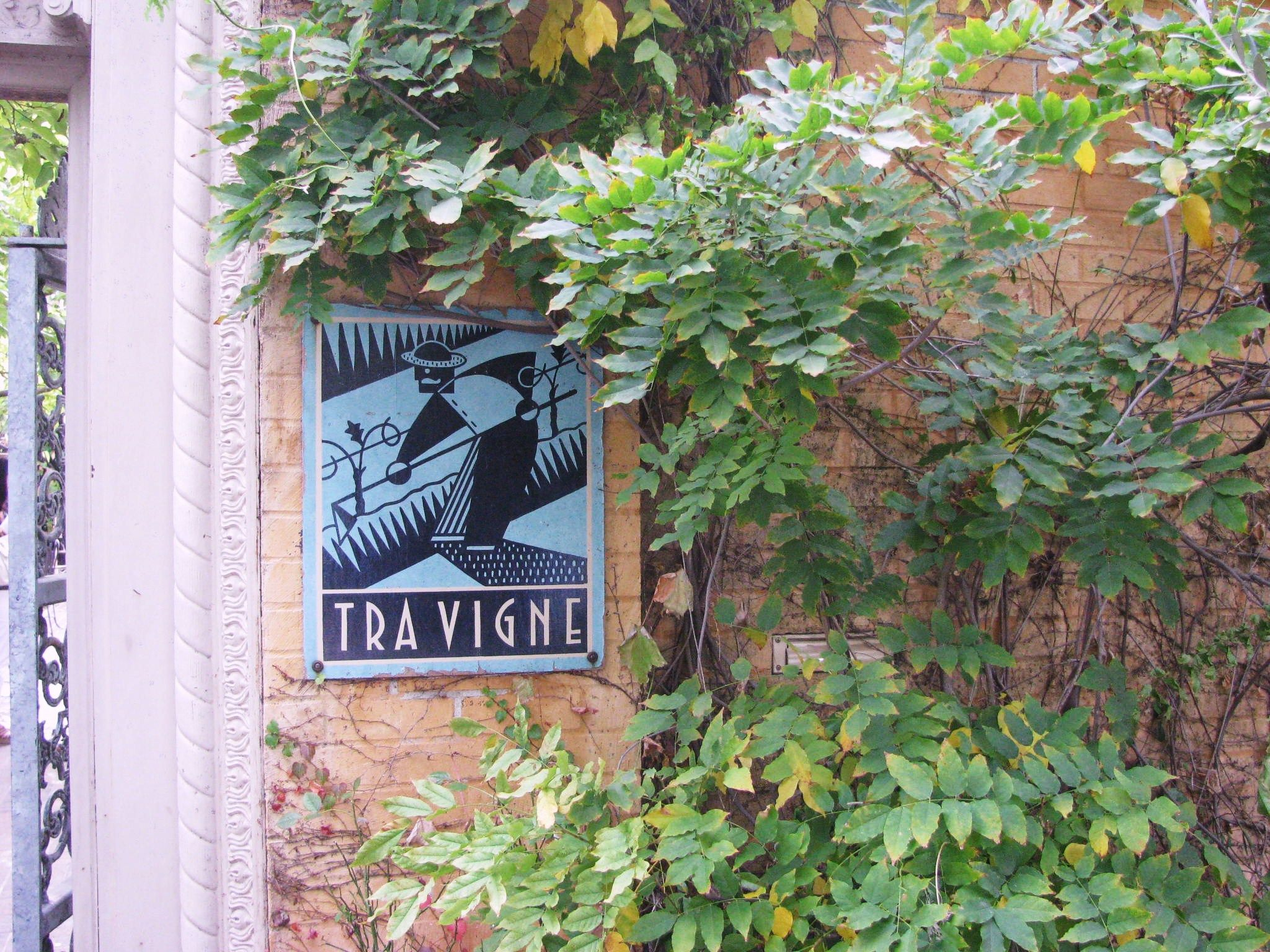 Tra Vigne - quintessential Napa wine country dining experience in St Helena, CA.  Dine in the tuscan courtyard - its delightful!
