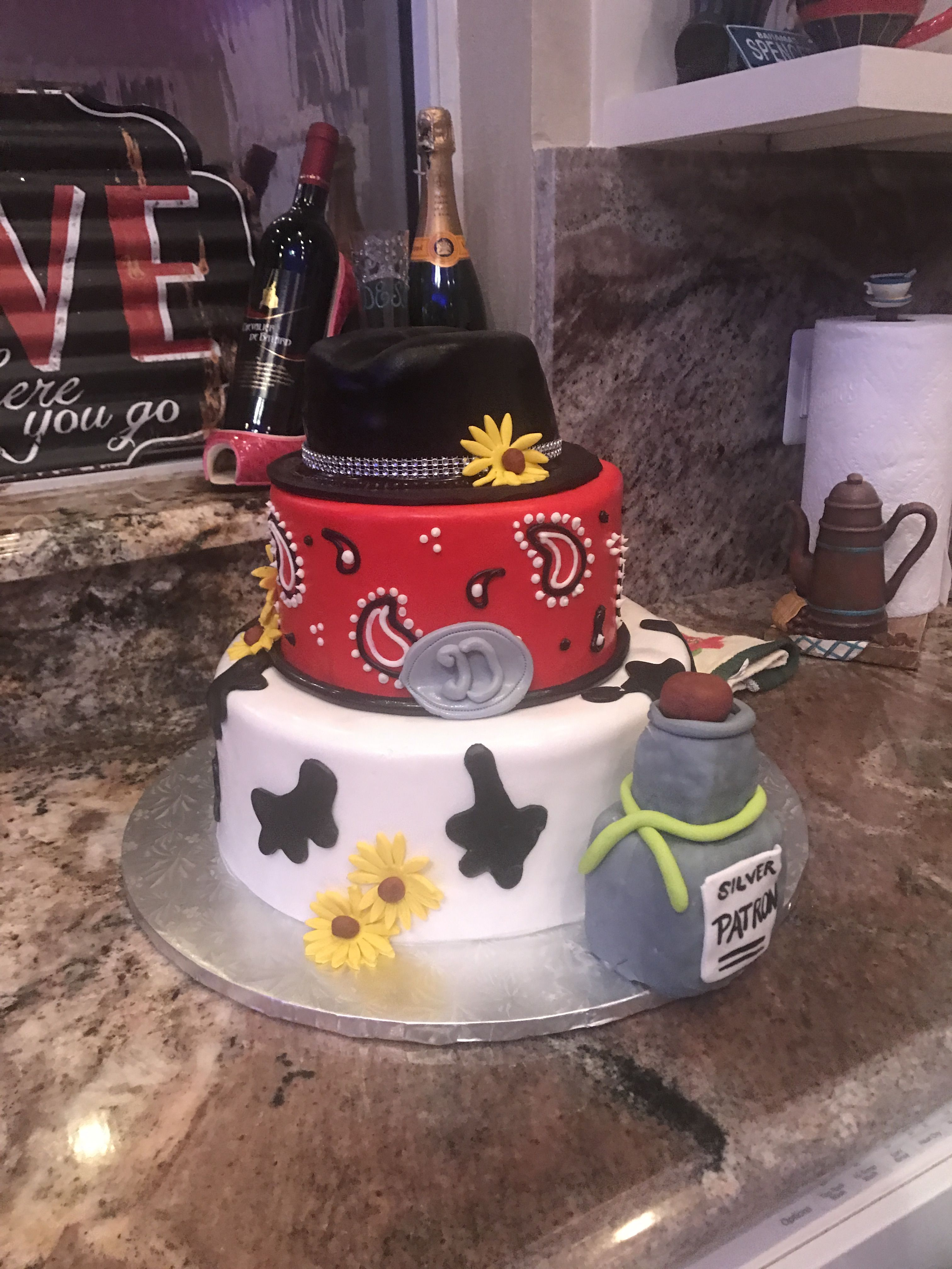 Paisley cowboy hat birthday cake Birthday cakes special occasion