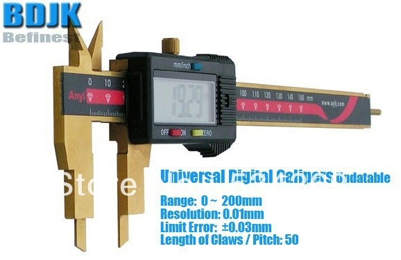 93.00$  Buy now - http://ali1hy.shopchina.info/go.php?t=1635309492 - 0~200mm Universal Digital Vernier Calipers / Measuring Instrument with 0.03mm Limit Error 93.00$ #buymethat