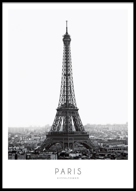 Eiffel Tower Plakat Billeder Baggrund Kunstfotografering