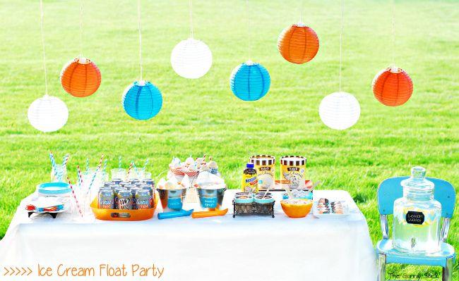 Summer Party Idea Root Beer Float Ice Cream Social Icecreamfloat Cbias