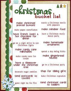 Christmas Bucket List...needs a few modifications :) | christmas ...