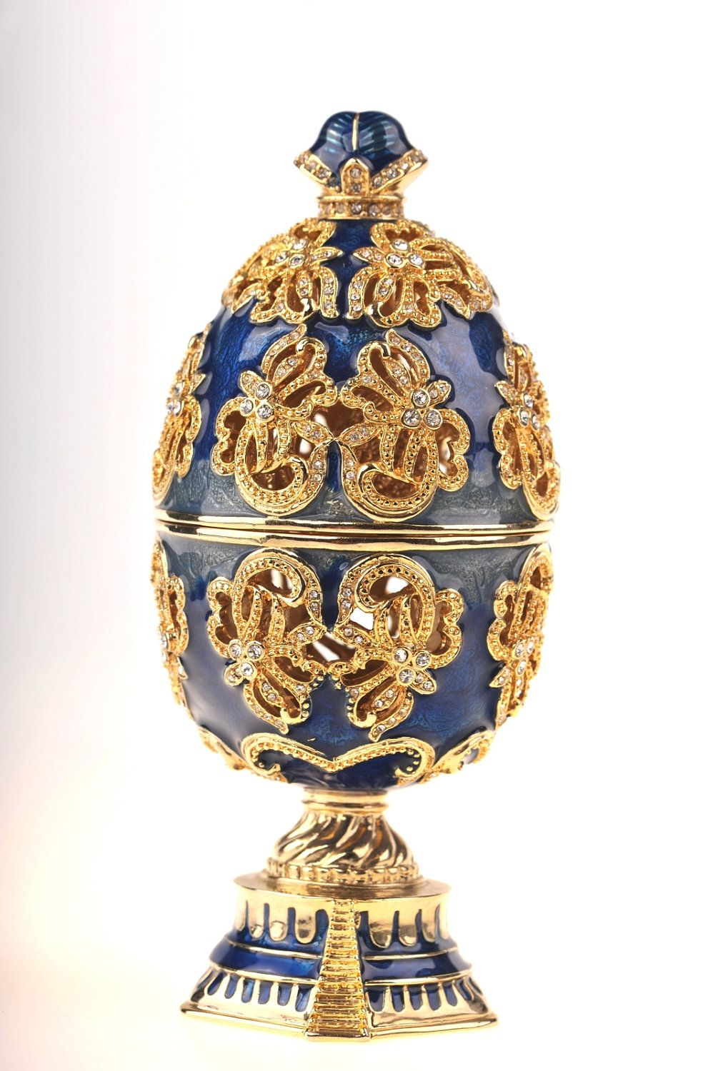4fc54d6ca9c6f Faberge Egg with a Golden Swan. via Etsy. | Future home | Faberge ...
