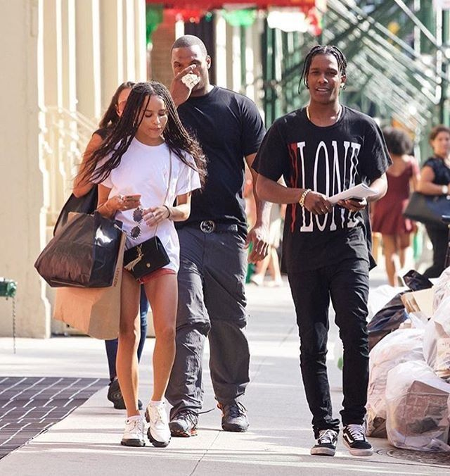 A$AP Rocky Hangs with Zoe Kravitz wearing VLONE T-shirt and Vans sneakers · Asap  RockyVans SneakersZoe KravitzTrippyFashion KillaMen's ...