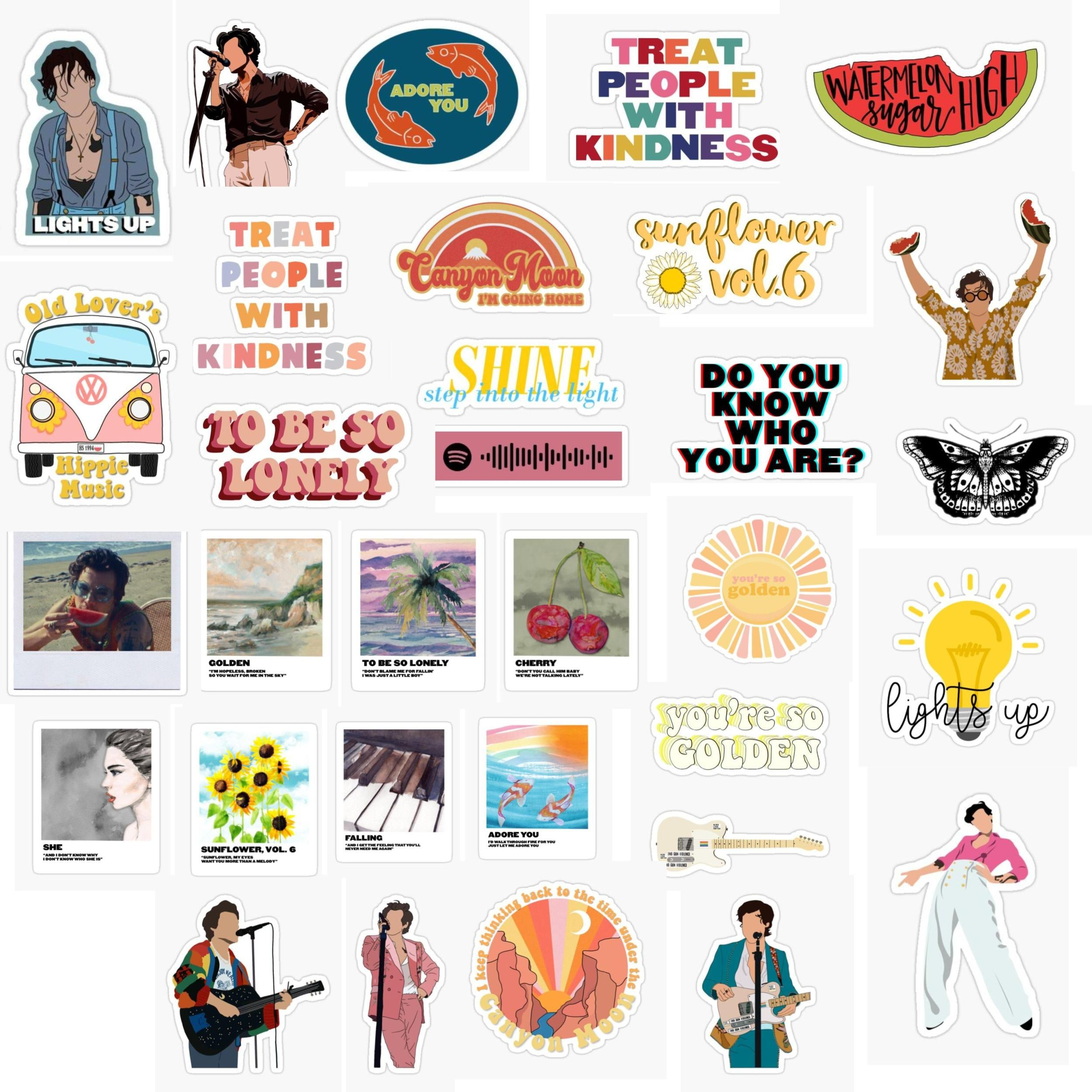 One Direction Aesthetic Stickers