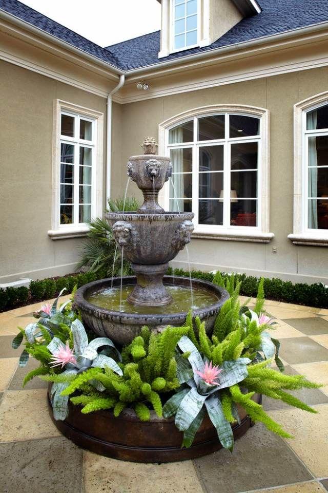 springbrunnen f r die terrasse gestaltungsideen houses rooms pinterest garten. Black Bedroom Furniture Sets. Home Design Ideas
