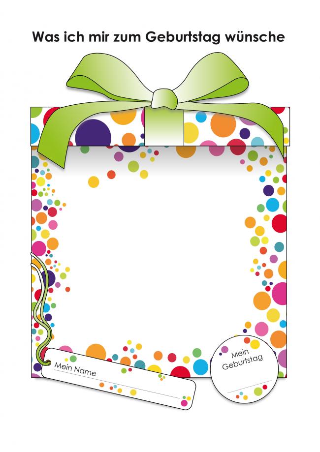 PortfolioblattWas-ich-mir-zum-Geburtstag-wuensche-farbe | рамки ...
