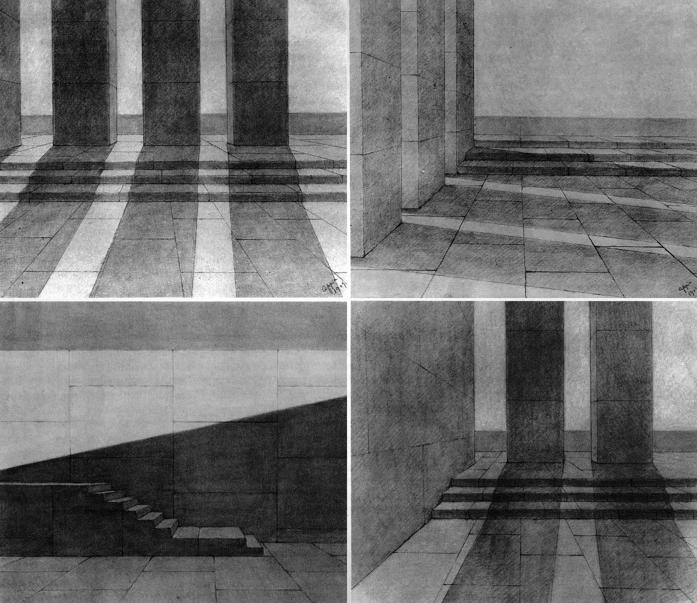 Adolphe Appia quattro Spazi ritmici The theatrical scenography of Appia is made by a set of rules to represent the space  shadows lights and flexibility ... & Adolphe Appia - Quattro Spazi Ritmici (1909) | Art-The Room ... azcodes.com