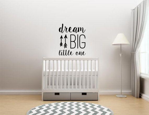 Dream Big Little One - vinyle autocollant - décor de chambre d