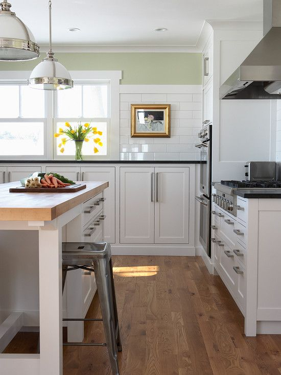Albertsson Hansen Architecture: Beautiful L Shaped Kitchen With White  Shaker Cabinets Paired With Modern Brushed Nickel .