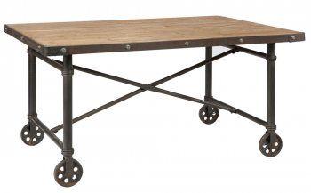 Comptoir De Famille Table Sur Roulettes Mobilier De Salon Ilot De Cuisine En Bois Table Roulette
