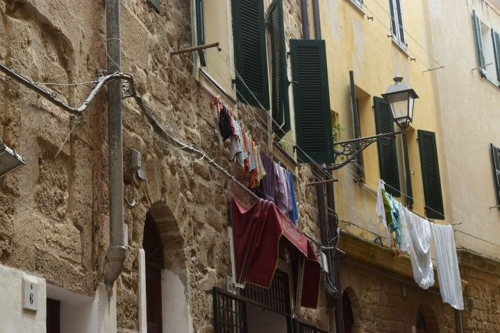 Just The Locals Laundry Alghero Old Town Sardinia Italy