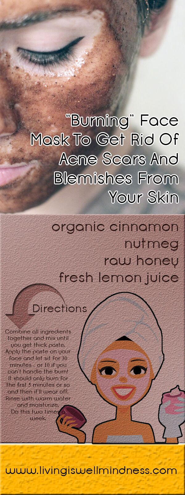 """€�burning"""" Face Mask To Get Rid Of Acne Scars And Blemishes From Your Skin"""