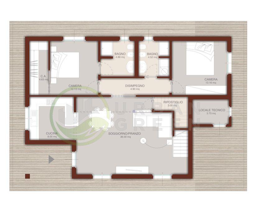 Casa In Legno Monopiano Urb16 Urban Green Case Di Legno