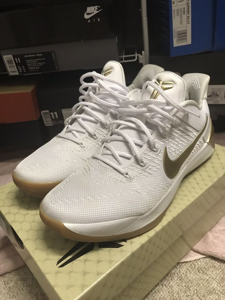 new concept 0f2c6 ca757 Slightly Used Nike Kobe AD WHITE GOLD BIG STAGE Size 11  fashion  clothing   shoes  accessories  mensshoes  athleticshoes (ebay link)