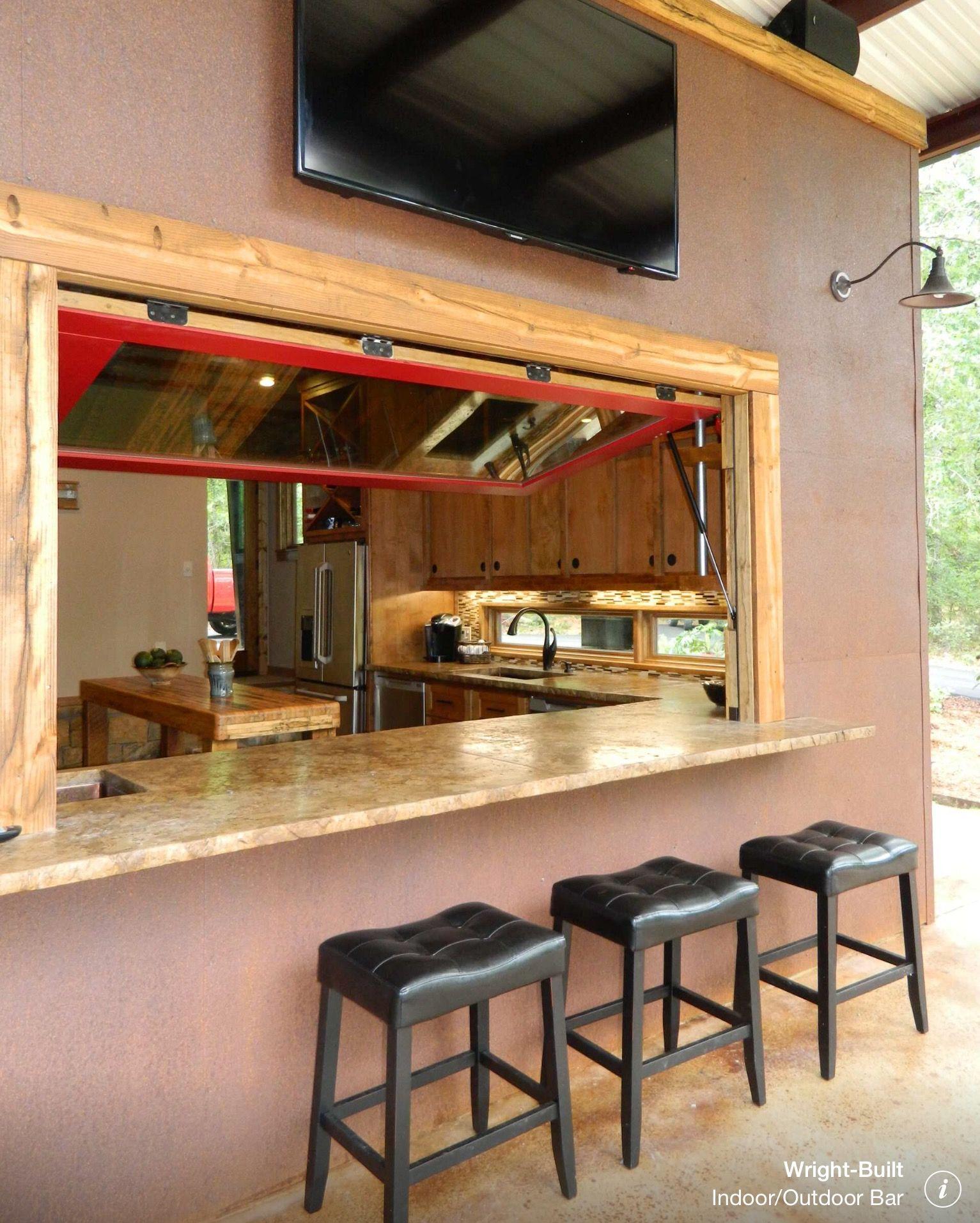 Bar outside kitchen window  pin by matt on kitchen in   pinterest  backyard bar and pool