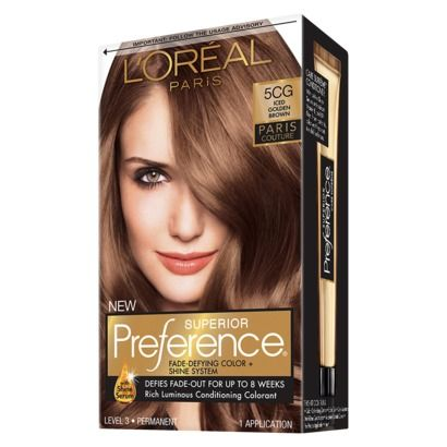 L\'Oreal Preference Hair Color Iced Golden Brown 5CG | Beauty ...