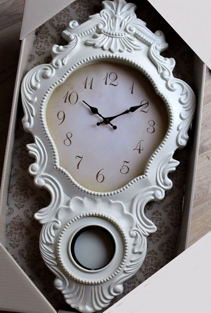 Bathroom Wall Clocks: Details About LARGE 68cm French Style Cream Wall Clock