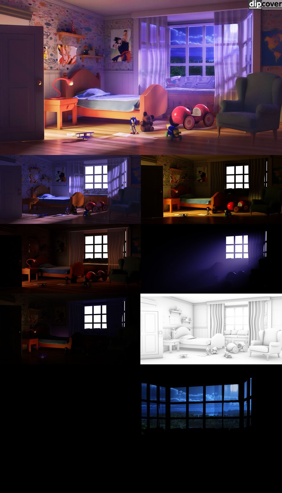A Night in my Childhood by arthaskooldude | Architecture | 3D | CGSociety