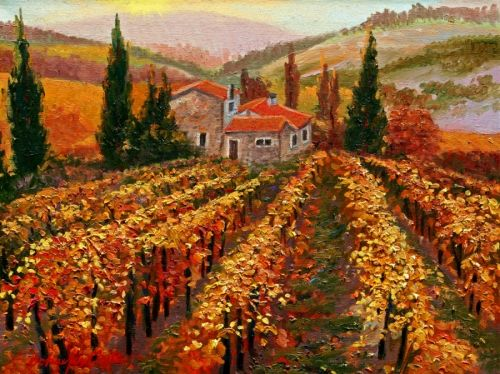 Vineyards of Provence, Fall | fused glass | Pinterest ...