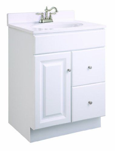 Super Simple Prefab Vanity Design House 545004 Wyndham Ready To Assemble 1 Door 2 Drawer Bathroom Vanities Without Tops Single Bathroom Vanity Vanity Cabinet