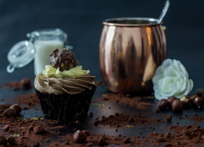 cupcakes ferrero rocher nutella