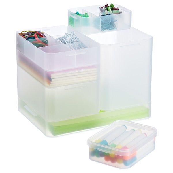 You Can Organize Virtually Anything With Our Modular Pure Box Modular Stacking System Made From D Stackable Plastic Storage Bins Container Store Pure Products