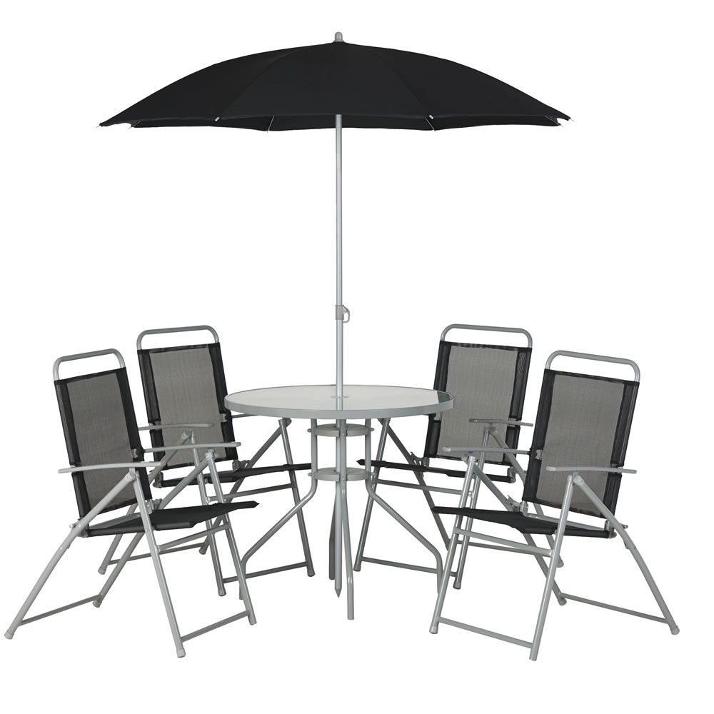wilko garden furniture round patio set black 6 piece at wilkocom 60