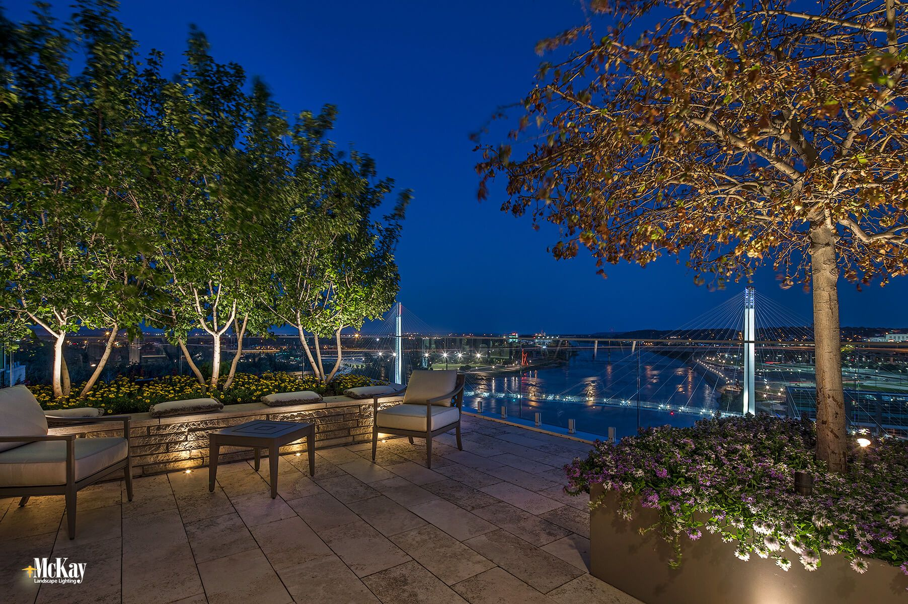 New Landscape Lighting Project: Downtown Omaha Private Rooftop Terrace #landscapelightingdesign