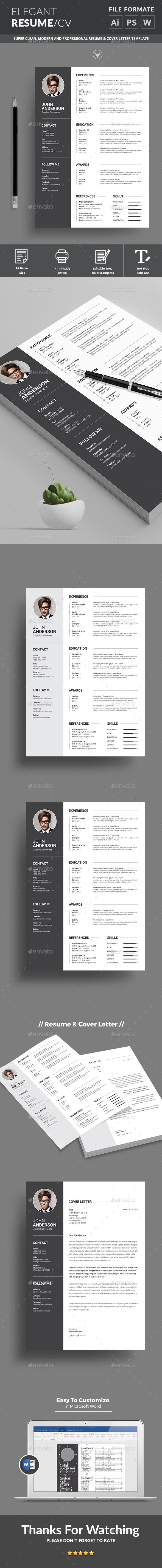 Resume  Print Templates Cv Template And Graphics