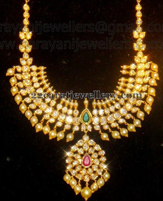 a44ce6bb5 Pachi Set from Narayani Jewellers | Tussi Kundan Jewellery | Jewelry ...