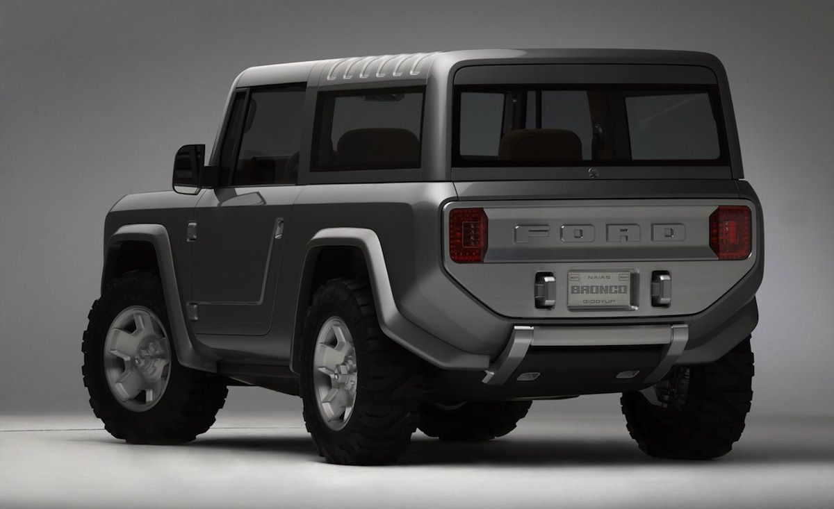 Ford company introduced the redesigned version of the old bronco model this is a concept vehicle a new bronco should come out by the end of 2015 years to