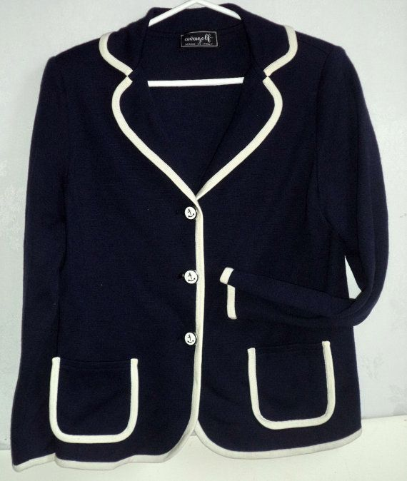 c2329353339 60s AVAGOLF Cardigan Jacket Sweater Marine NOS NEW Wool Knit. Find this Pin  and more on clothes ...