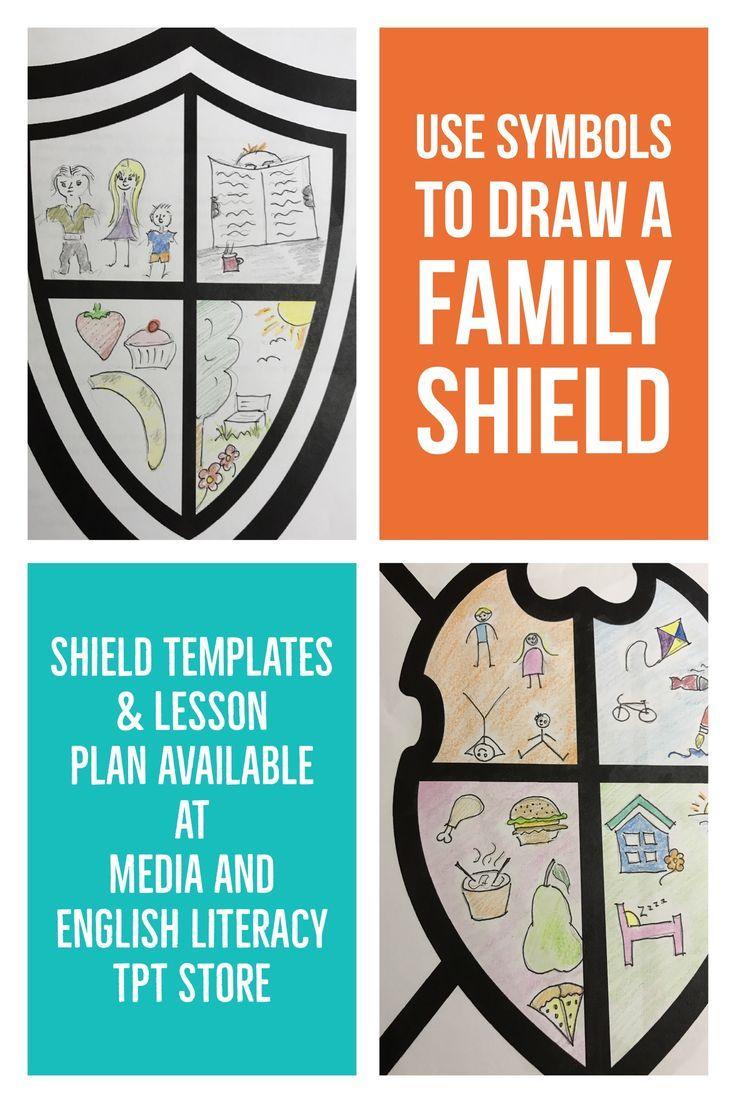 Design A Family Shield Media Literacy Signs Symbols English