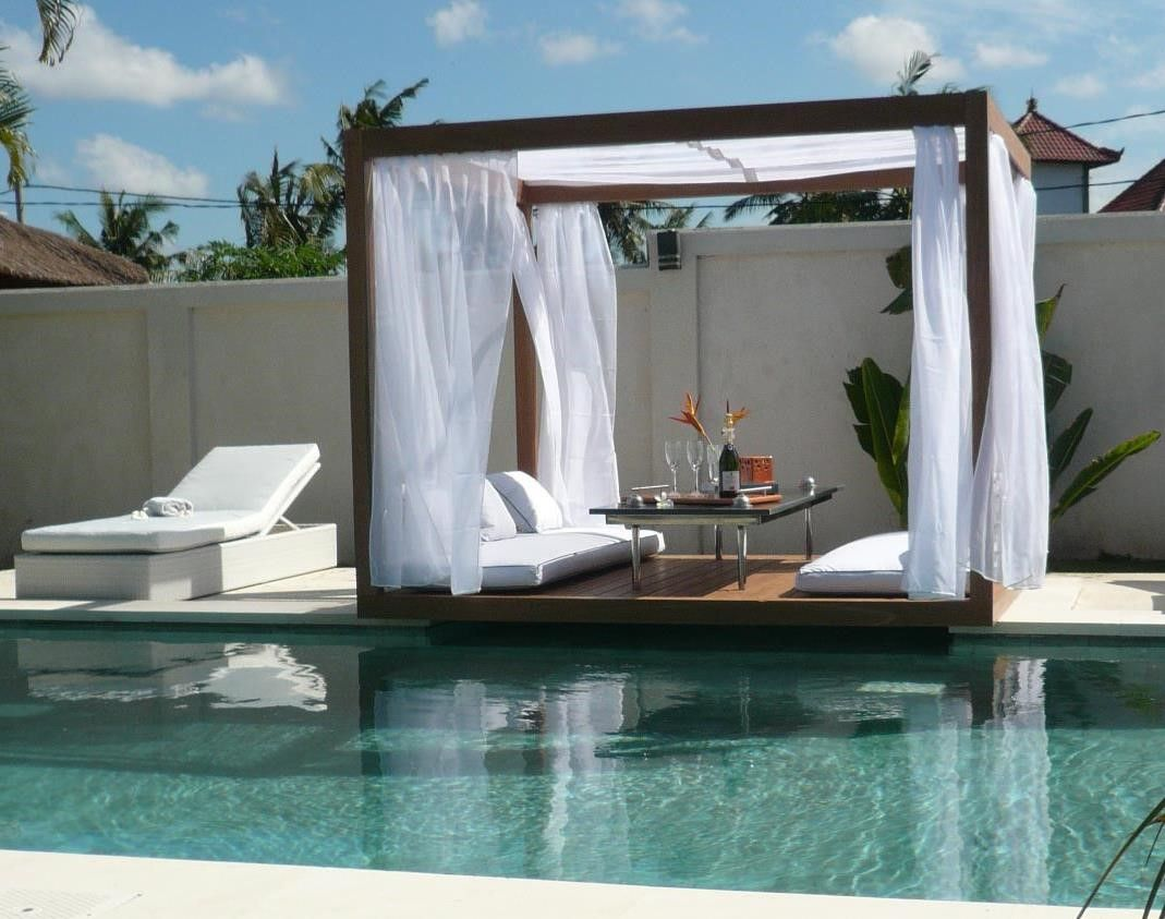 Image result for outdoor bed pool beds pinterest for Outdoor pool bed