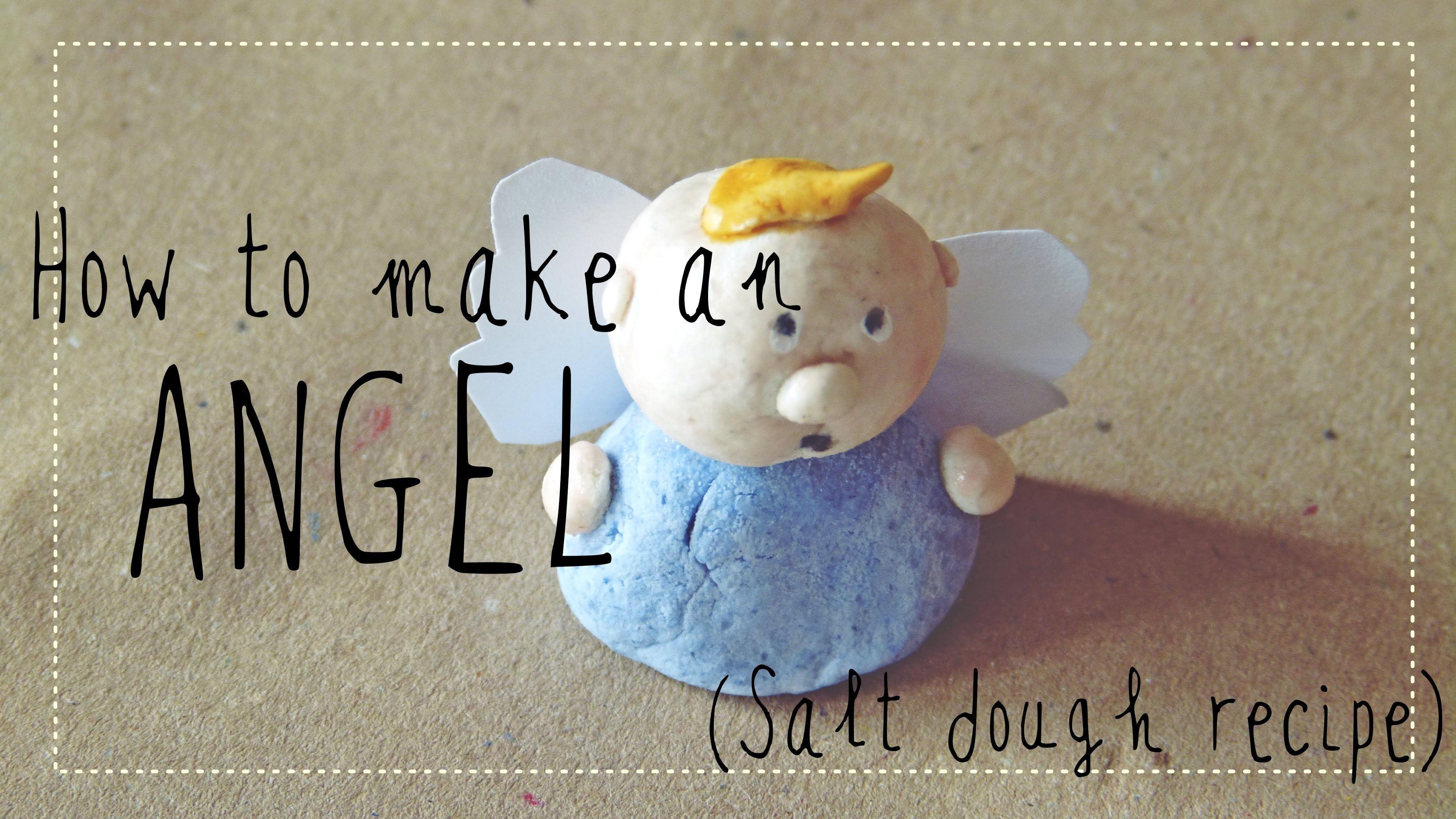 Christmas crafts for kids Salt dough angel