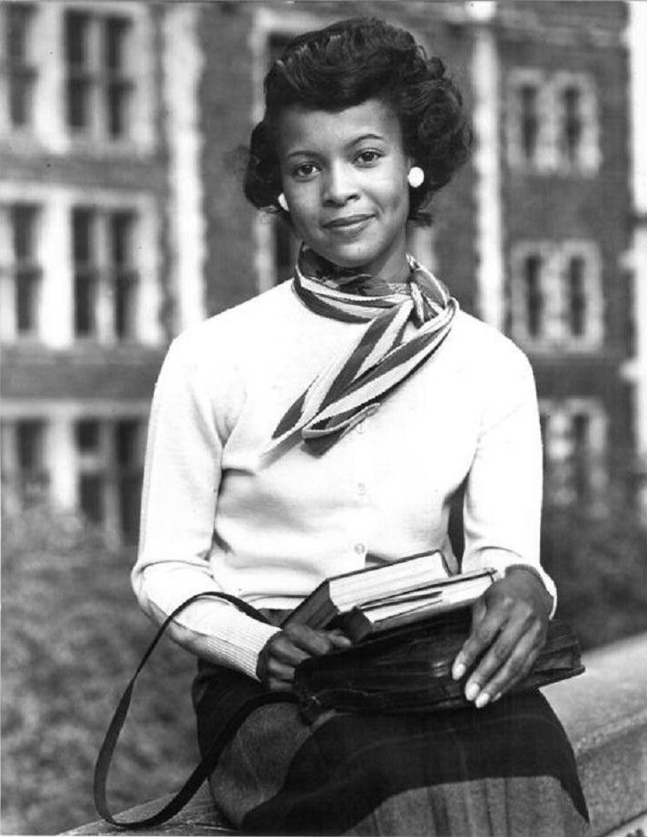 Thelma Porter, Miss Subways New York City, 1948. Thelma was the first woman to integrate a beauty contest in America and became the first African American Miss Subways in April, 1948.